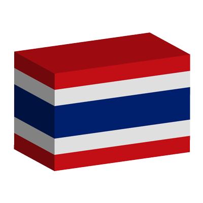 タイ王国の国旗-積み木