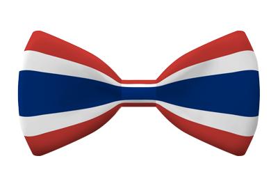 タイ王国の国旗-蝶タイ