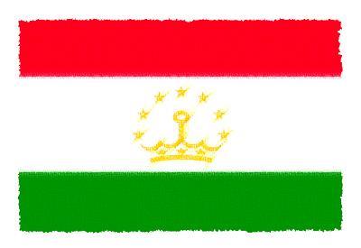 タジキスタン共和国の国旗-パステル