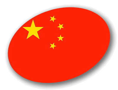 中華人民共和国の国旗-楕円