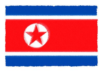 朝鮮民主主義人民共和国(北朝鮮)の国旗-パステル
