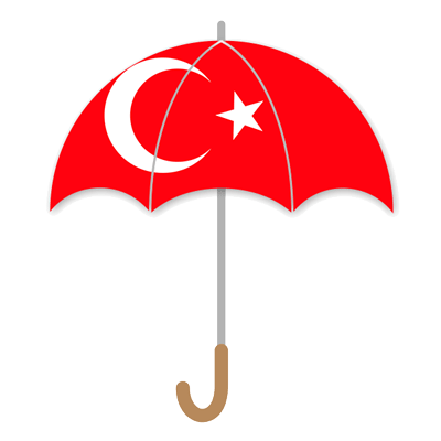 トルコ共和国の国旗-傘