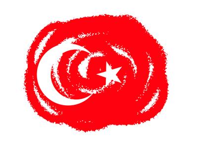 トルコ共和国の国旗-クラヨン2