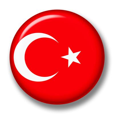 トルコ共和国の国旗-缶バッジ