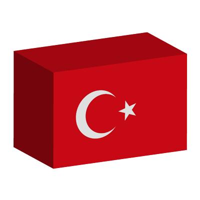 トルコ共和国の国旗-積み木