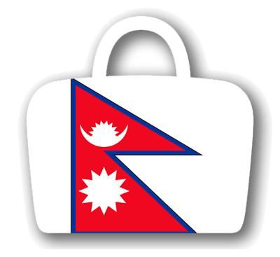 ネパール連邦民主共和国の国旗-バッグ