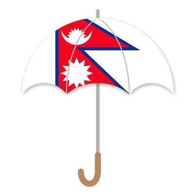 ネパール連邦民主共和国の国旗-傘