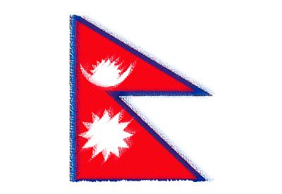 ネパール連邦民主共和国の国旗-パステル