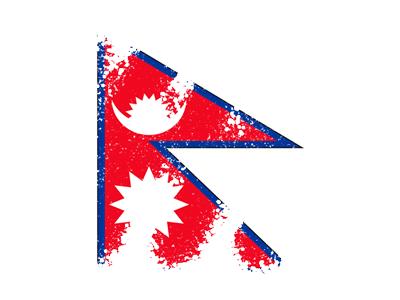 ネパール連邦民主共和国の国旗-クレヨン1