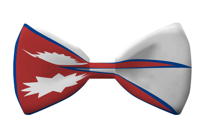 ネパール連邦民主共和国の国旗-蝶タイ