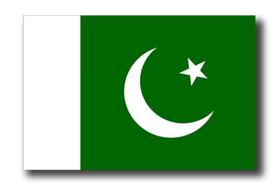 パキスタン・イスラム共和国の国旗-ドロップシャドウ
