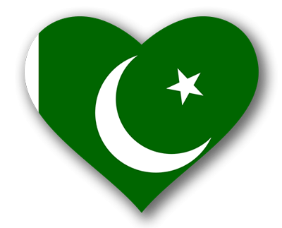 パキスタン・イスラム共和国の国旗-ハート