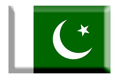 パキスタン・イスラム共和国の国旗-板チョコ