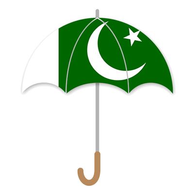 パキスタン・イスラム共和国の国旗-傘