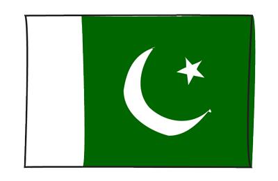 パキスタン・イスラム共和国の国旗-グラフィティ