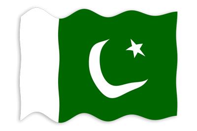 パキスタン・イスラム共和国の国旗-波