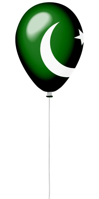 パキスタン・イスラム共和国の国旗-風せん