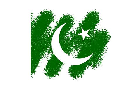 パキスタン・イスラム共和国の国旗-クレヨン1