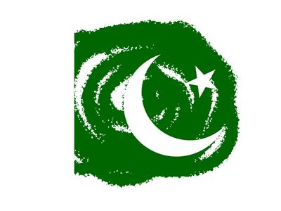 パキスタン・イスラム共和国の国旗-クラヨン2