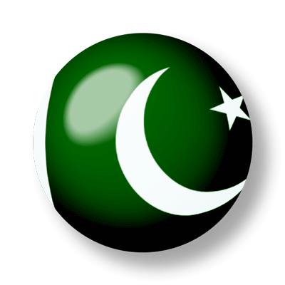 パキスタン・イスラム共和国の国旗-ビー玉