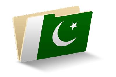 パキスタン・イスラム共和国の国旗-フォルダ
