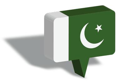 パキスタン・イスラム共和国の国旗-マップピン