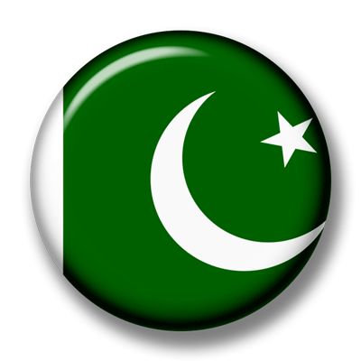 パキスタン・イスラム共和国の国旗-缶バッジ