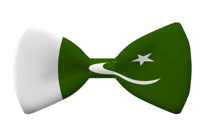 パキスタン・イスラム共和国の国旗-蝶タイ