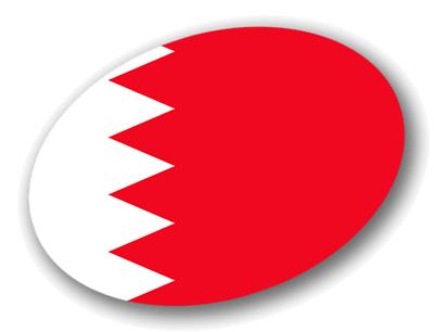 バーレーン王国の国旗-楕円