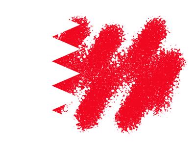 バーレーン王国の国旗-クレヨン1