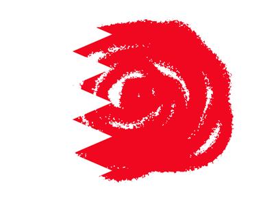 バーレーン王国の国旗-クラヨン2