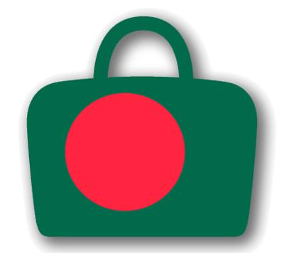 バングラデシュ人民共和国の国旗-バッグ