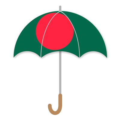 バングラデシュ人民共和国の国旗-傘