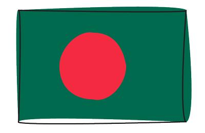 バングラデシュ人民共和国の国旗-グラフィティ