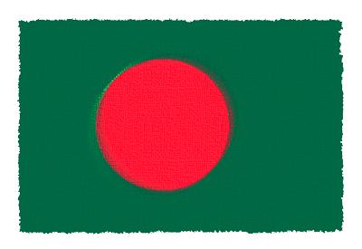 バングラデシュ人民共和国の国旗-パステル
