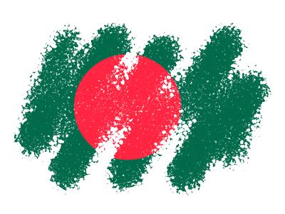 バングラデシュ人民共和国の国旗-クレヨン1