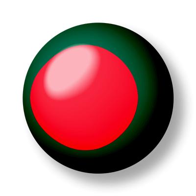 バングラデシュ人民共和国の国旗-ビー玉