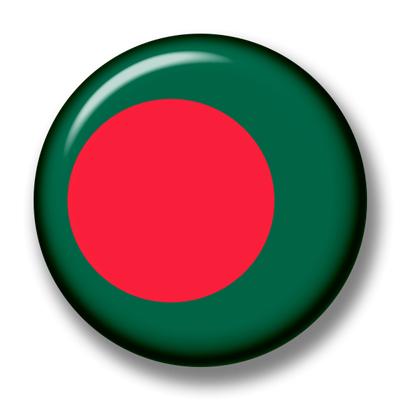 バングラデシュ人民共和国の国旗-缶バッジ