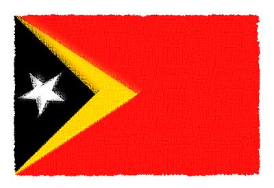 東ティモール民主共和国の国旗-パステル