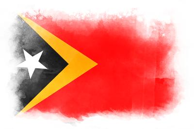 東ティモール民主共和国の国旗-水彩風