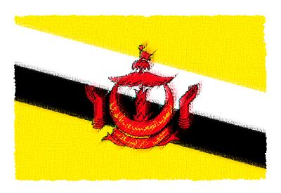 ブルネイ・ダルサラーム国の国旗-パステル