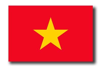 ベトナム社会主義共和国の国旗-ドロップシャドウ