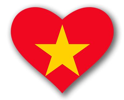 ベトナム社会主義共和国の国旗-ハート