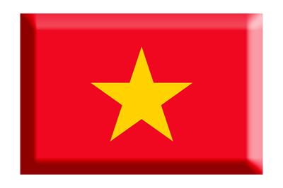 ベトナム社会主義共和国の国旗-板チョコ