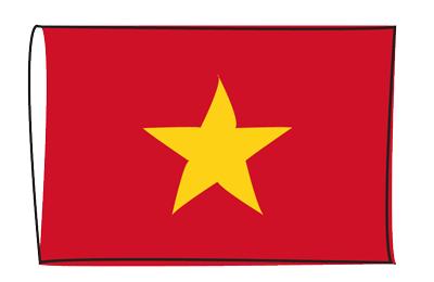 ベトナム社会主義共和国の国旗-グラフィティ