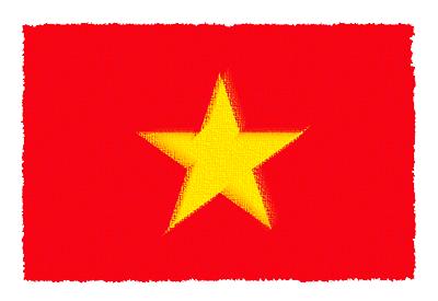ベトナム社会主義共和国の国旗-パステル