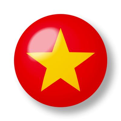 ベトナム社会主義共和国の国旗-ビー玉