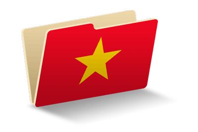 ベトナム社会主義共和国の国旗-フォルダ