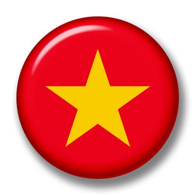 ベトナム社会主義共和国の国旗-缶バッジ