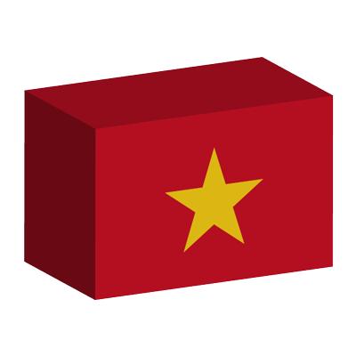 ベトナム社会主義共和国の国旗-積み木